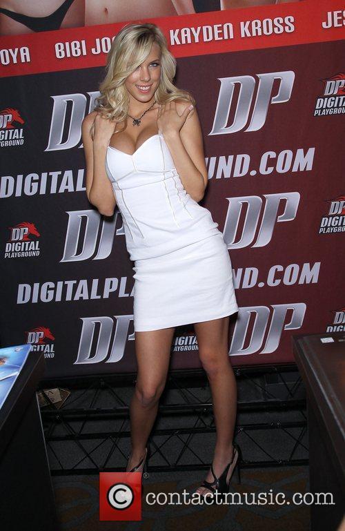 Bibi Jones Day one of the 2012 AVN...