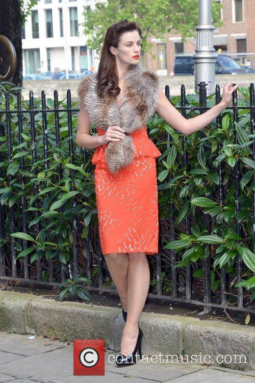 Model Karen Fitzpatrick wears pretty printed dresses and...