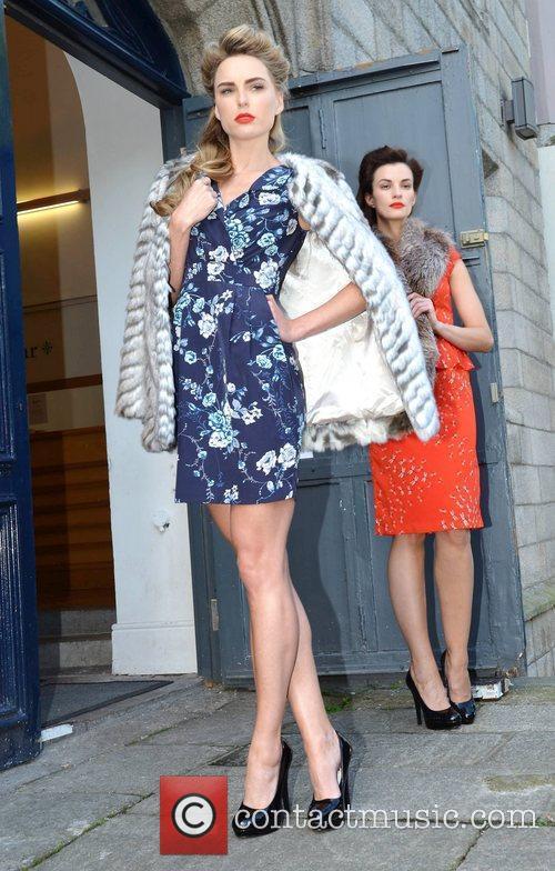 Models Karen Fitzpatrick and Sarah Morrissey wear pretty...