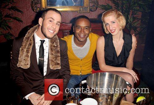 Blogger Micah Jesse (left),  at the...