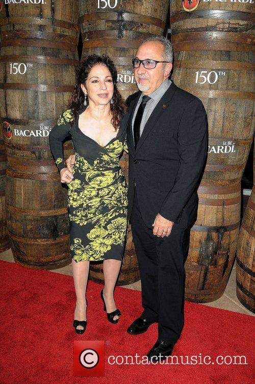 Gloria Estefan and Emilio Estefan at the Bacardi...