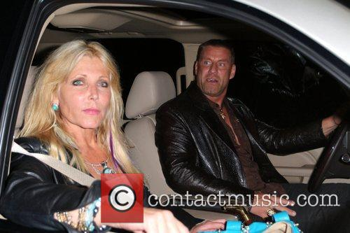 br>Pamela Bach-Hasselhoff and Tony Rock are photographed in...