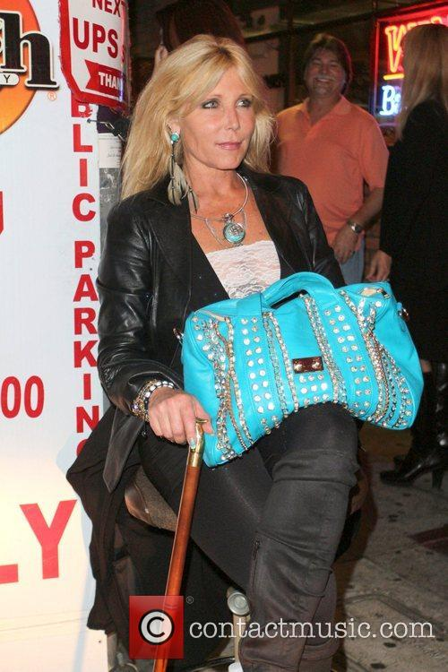 Pamela Bach-Hasselhoff poses for a photo  outside...
