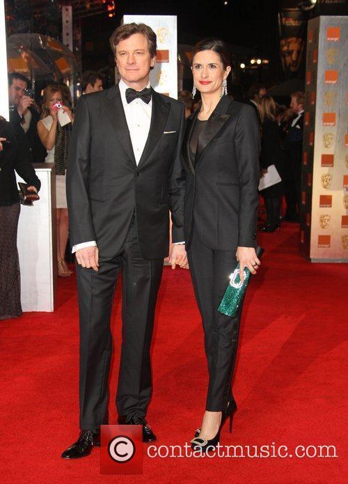 Colin Firth with his wife Livia Giuggioli Orange...