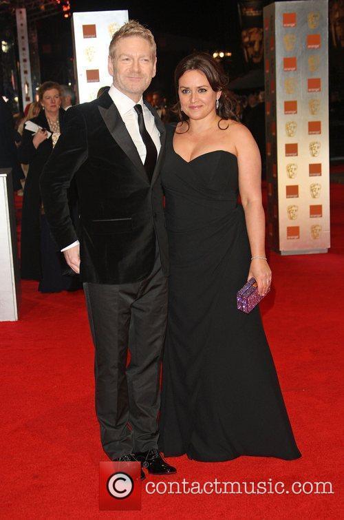 Kenneth Brannagh and wife Lindsay Brunnock Orange British...