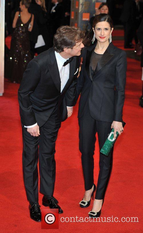Colin Firth and Livia Giuggioli Orange British Academy...