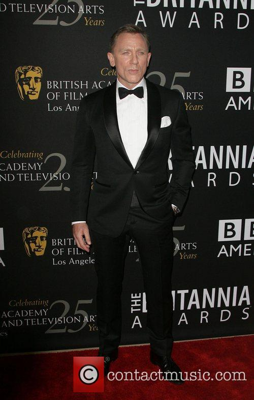 Daniel Craig at the BAFTA Britannias