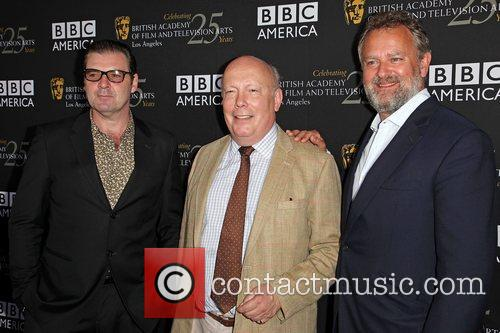 Brendan Coyle, Julian Fellowes and Hugh Bonneville 7