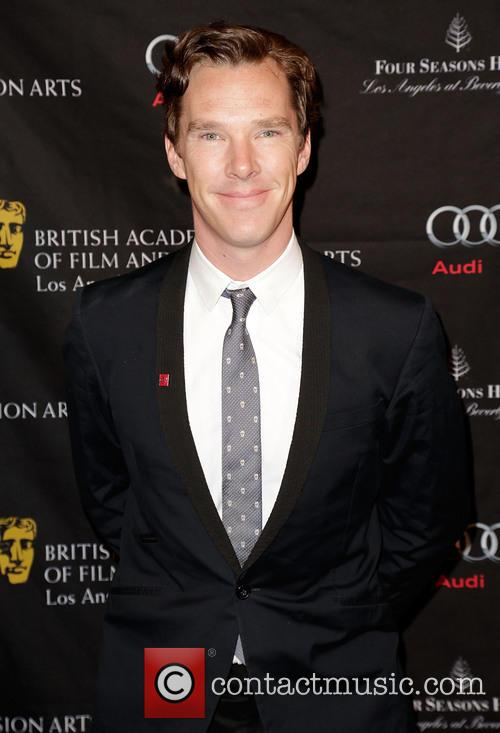 Benedict Cumberbatch is all smiles for the camera at this years BAFTAs