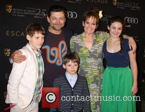 Andy Serkis and his family BAFTA Los Angeles...