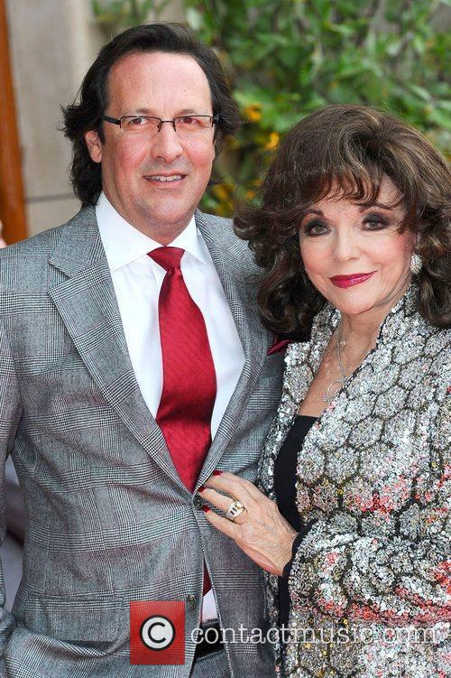 Percy Gibson and Joan Collins  at the...
