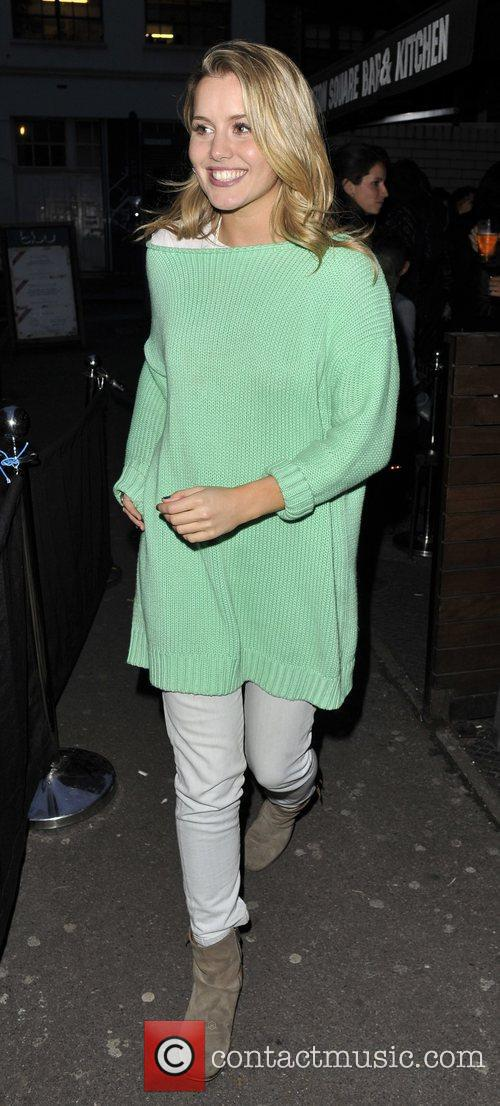 Caggie Dunlop exits the Bambi and Manson party...