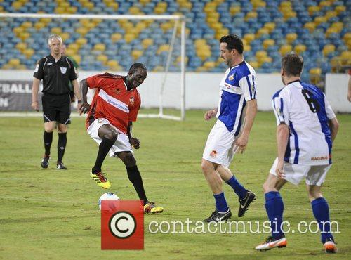 Dancing Dwight Yorke Barbados Football Legends Tournament held...