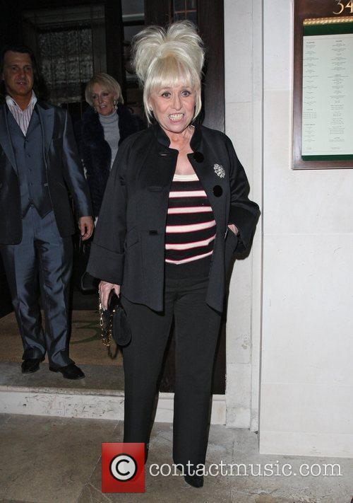 Barbara Windsor leaving 34 restaurant in Mayfair