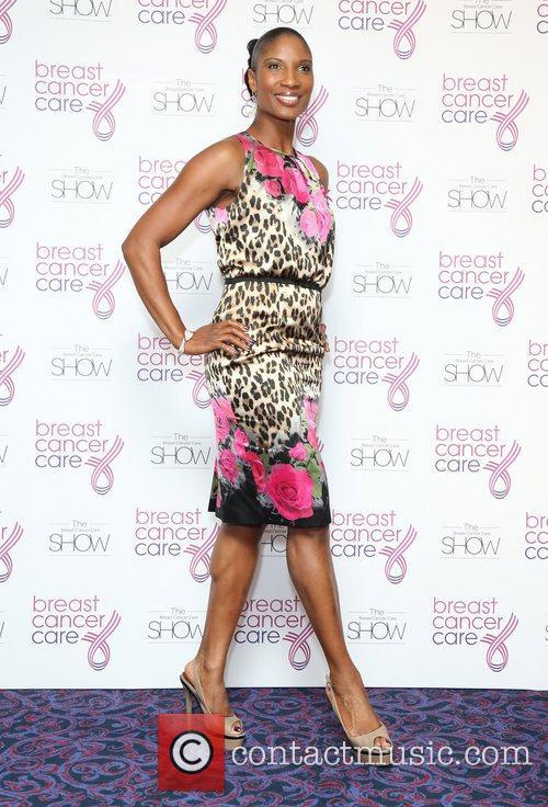 Denise Lewis Breast Cancer Cares London Fashion Show...