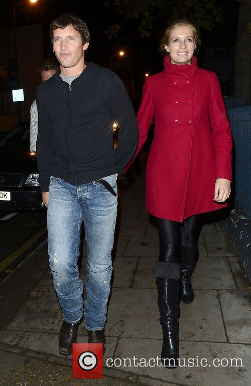 James Blunt at Barbarella's restaurant in Chelsea London,...