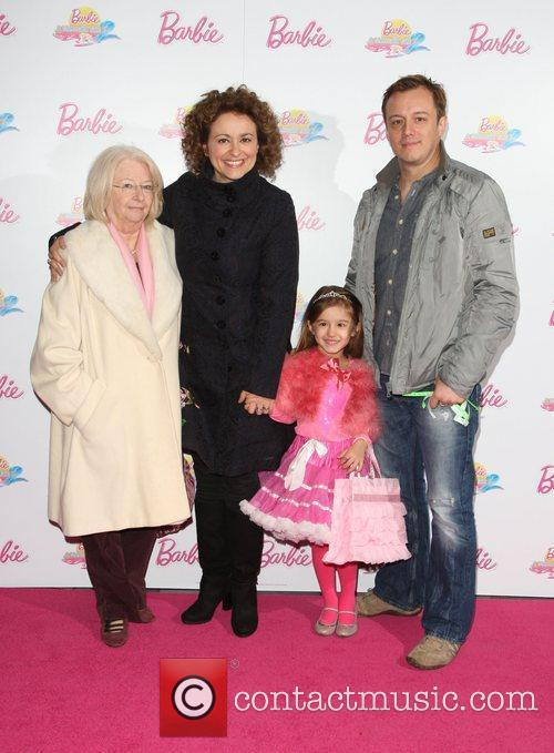 Nadia Sawalha with her daughter, husband and mother...