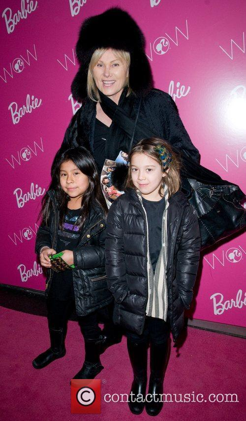 Deborra Lee Furness with Ava Jackman and a...