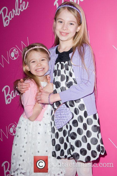 Erin Gerasimovich and Alexa Gerasimovich  visting Barbie...