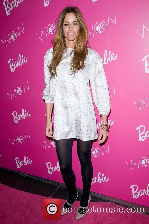 Kelly Bensimon  visting Barbie - The Dream...
