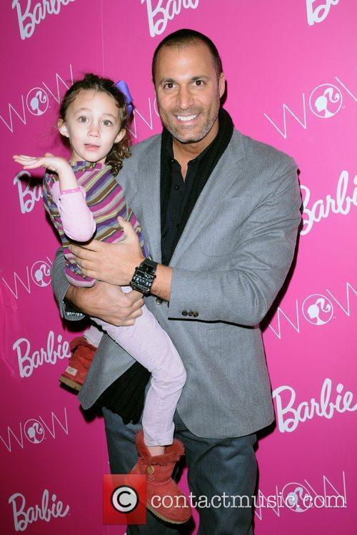 Nigel Barker and Jasmine Ines Barker visting Barbie...