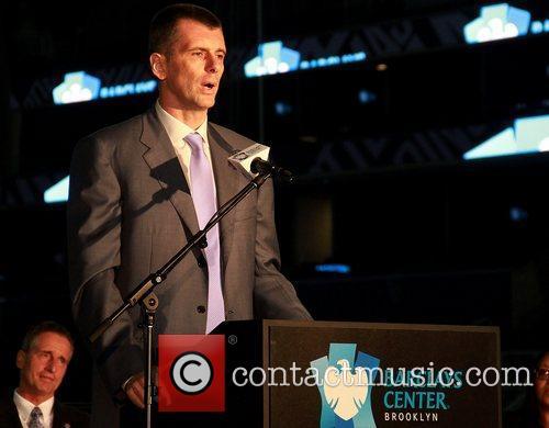 Brooklyn Nets Owner Mikhail Prokhorov Ribbon cutting ceremony...