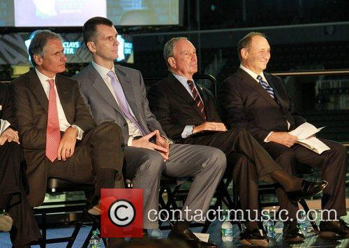 Thomas L. Kalaris, Executive Chairman, Americans Barclays, Brooklyn Nets Owner Mikhail, Prokhorov, Mayor Michael Bloomberg and Bruce Ratner 3