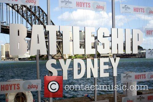 The Australian premiere of 'Battleship' held at Luna...