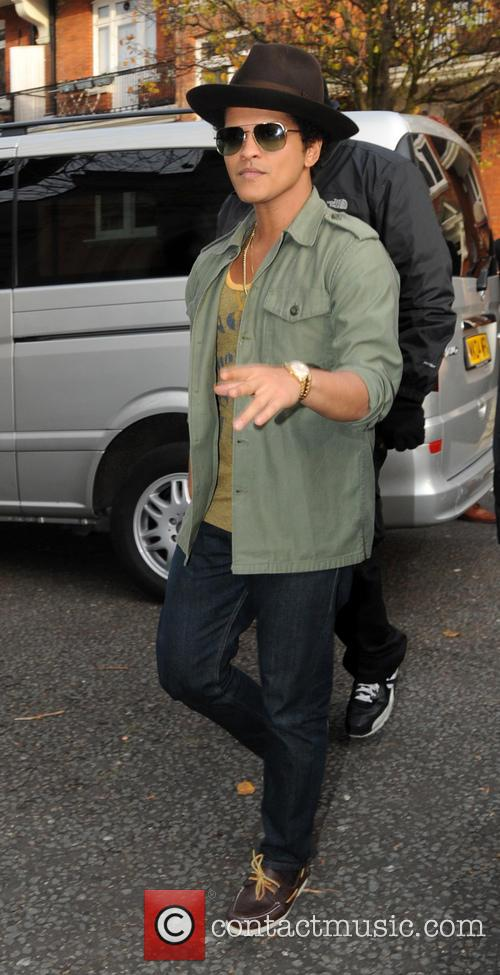 Bruno Mars at the BBC Maida Vale studios