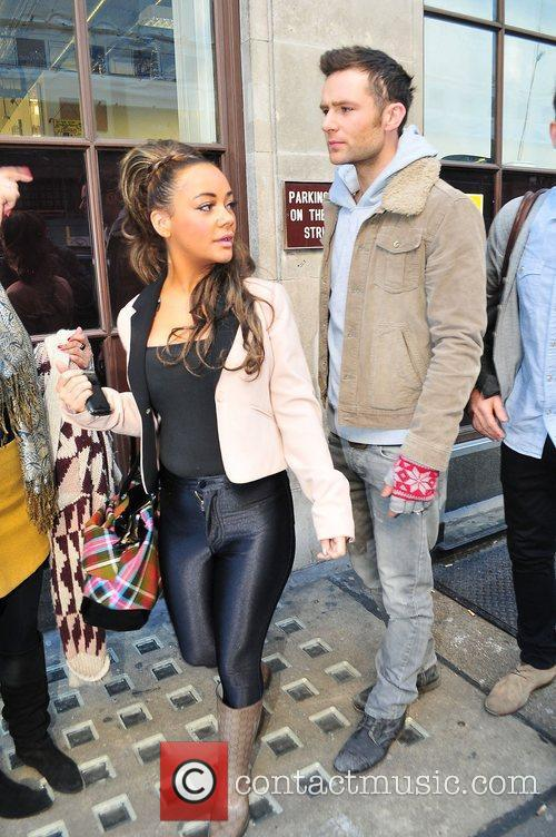 Harry Judd, Chelsee Healey leaving the BBC Radio...