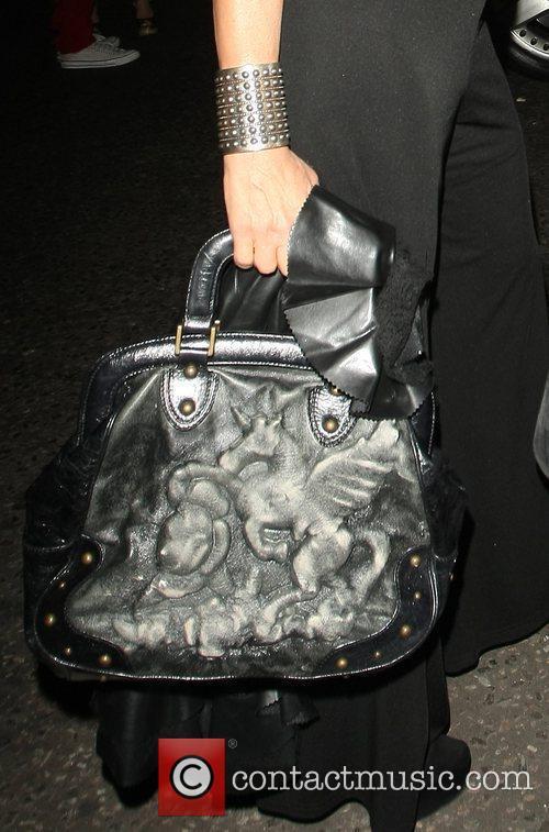 Nancy Dell'olio's bag Celebrities outside Beach Blanket Babylon...