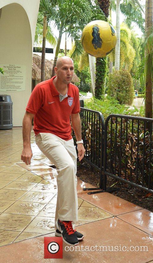 U.S. team captain, Francis Farberoff attends Beach Soccer...