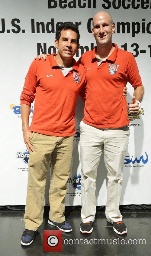 U.S. team player, Oscar Gil and U.S. team...