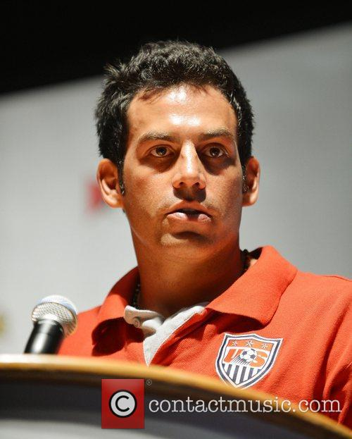 Attends Beach Soccer U.S. Indoor Championships press conference...