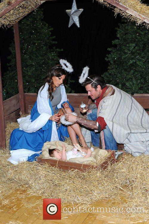 Beckham lookalikes Posh, Becks & Harper Seven Nativity...