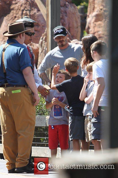 David Beckham and family,  Beckham family on...