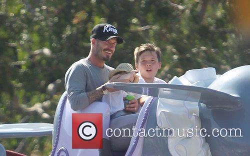 David Beckham and Brooklyn 4