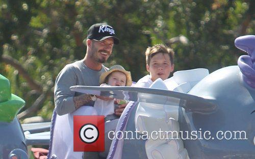 Beckham family on a day out to Disneyland.
