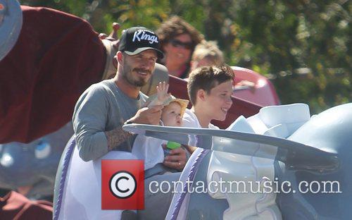David Beckham and Brooklyn 1