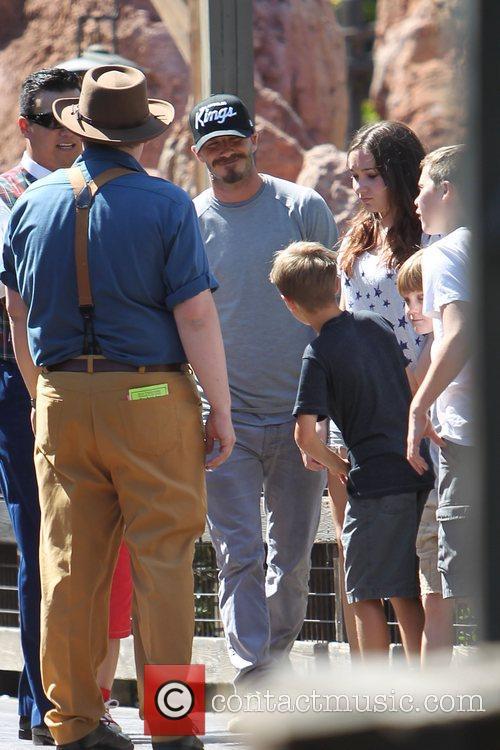 David Beckham, Romeo Beckham and Brooklyn Beckham ,...