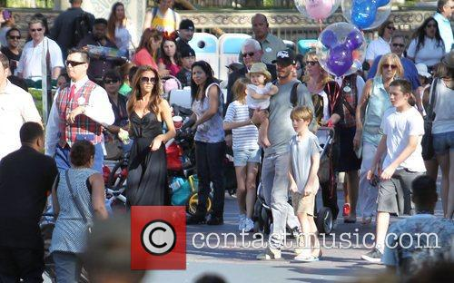 Victoria Beckham, David Beckham and Disneyland 9