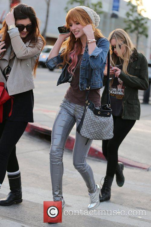 Actress Bella Thorne and Kylie Jenner  seen...