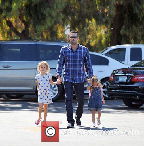 Ben Affleck with daughters Violet Affleck and Seraphina...