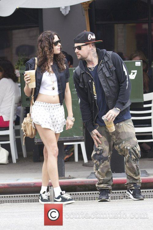 benji madden and a female companion leave 3978716