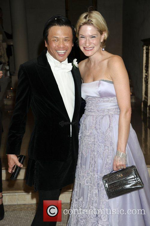 Zang Toi and guest Bergdorf Goodman 111th Anniversary...