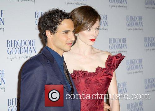 Zac Posen and Coco Rocha attends the Bergdorf...