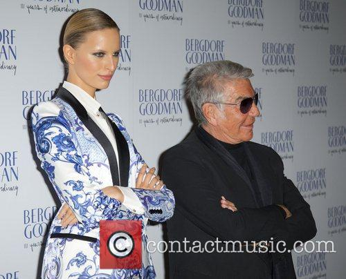 karolina kurkova and roberto cavalli attends the 4134238