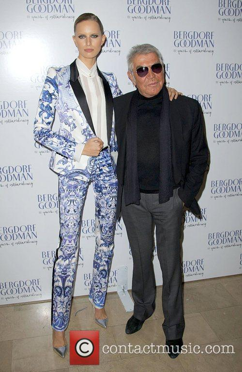 Karolina Kurkova and Roberto Cavalli  attends the...