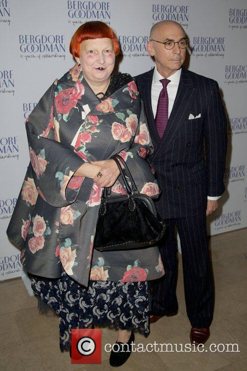 Lynn Yaeger and guest Bergdorf Goodman 111th Anniversary...