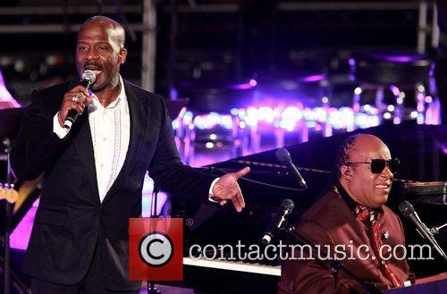 Bebe Winans and Stevie Wonder